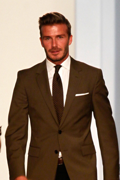 Front Row: New York Fashion Week - David Beckham attends the Victoria Beckham Spring 2013 presentation during Mercedes-Benz Fashion Week at New York Public Library on September 9, 2012 in New York City.