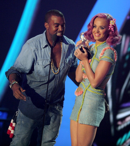 Photos | 2011 MTV EMA Nominees - 2011 MTV VMA 'Best Collaboration' winners Katy Perry and Kanye West.