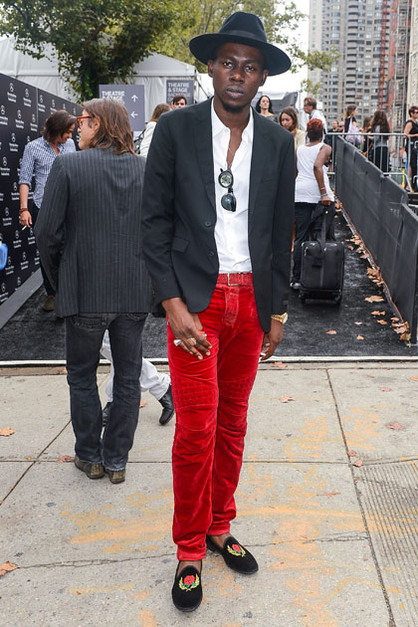 Front Row: New York Fashion Week - Rapper Theophilus London attends the Jill Stuart 2013 Mercedes-Benz Fashion Week Show at The Stage Lincoln Center on September 8, 2012 in New York City.