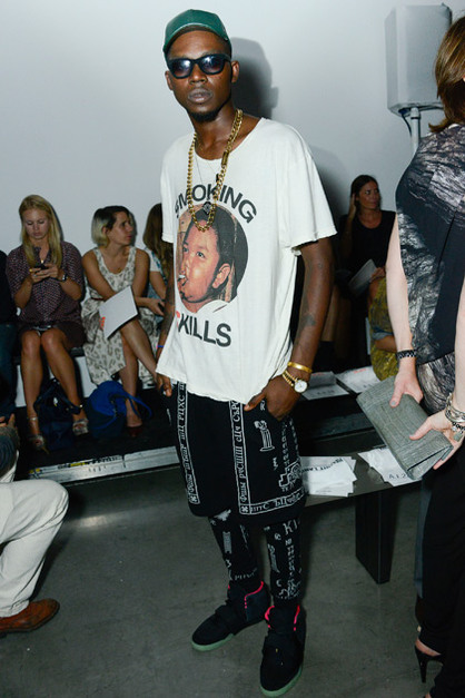 Front Row: New York Fashion Week - Theophilus London attends the Helmut Lang show during Spring 2013 Mercedes-Benz Fashion Week at on September 7, 2012 in New York City.