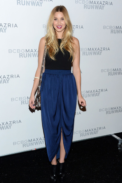 Front Row: New York Fashion Week - Whitney Port poses backstage at the BCBGMAXAZRIA Spring 2013 fashion show during Mercedes-Benz Fashion Week at The Theatre at Lincoln Center on September 6, 2012 in New York City.