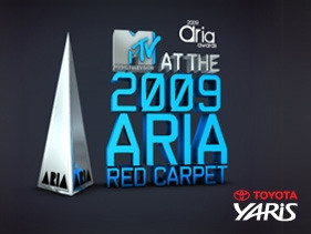 MTV at the 2009 Aria Red Carpet