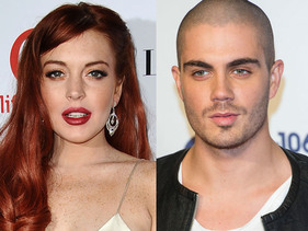 Lindsay Lohan poses for an Instagram snap with Max George!